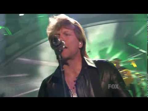 Bon Jovi performing Superman Tonight on American Idol, Season 9, May 12, 2010 - Top 4 Results