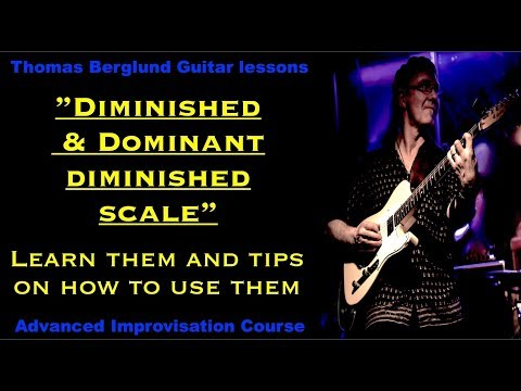 Diminished scale and Dominant diminished scale / Advanced Improvisation // Guitar lesso