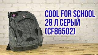 Розпакування Сool For School 47х35х17 см 28 л Сірий CF86502