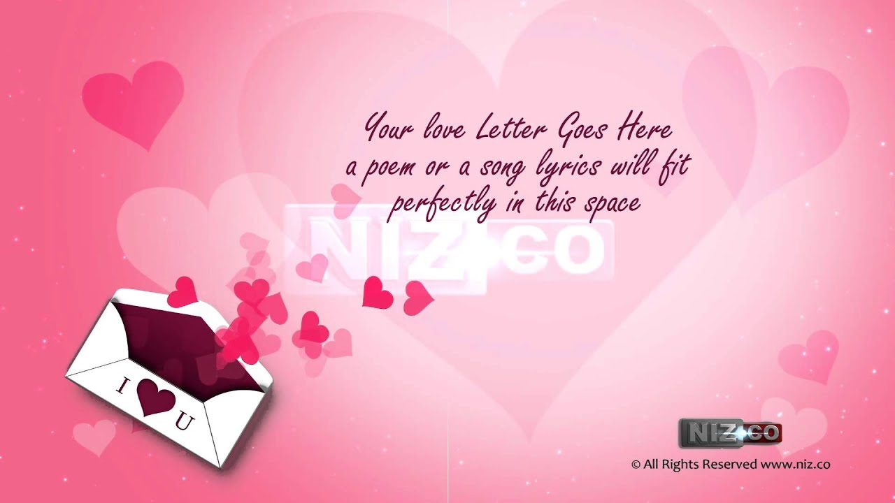 Love letter royalty free background loop hd 1080p youtube thecheapjerseys Images