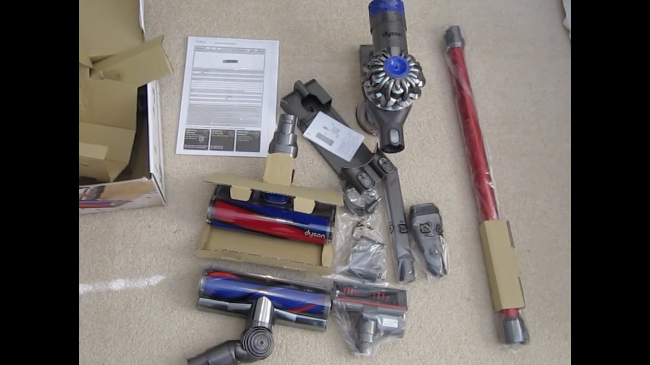 dyson v6 absolute unboxing quick demo youtube. Black Bedroom Furniture Sets. Home Design Ideas