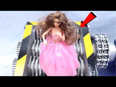 Barbie doll who will dance on shredded paper