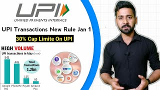UPI Transactions New Rules from Jan 2021 | 30% Cap on Google Pay & PhonePe