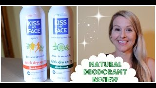 Natural Deodorant Review - Kiss My Face Quick Dry Spray