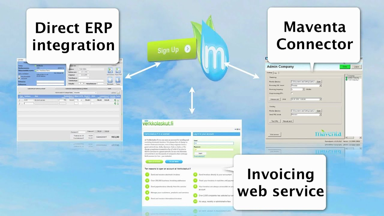 maventa free electronic invoicing youtube