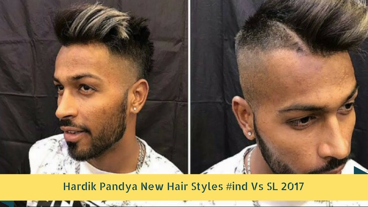 Hardik Pandya New Hair Styles Ind Vs Sl 2017 Cricket Web Youtube