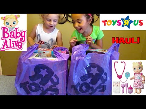 Toys R Us Haul See What We Bought Baby Alive Shopkins