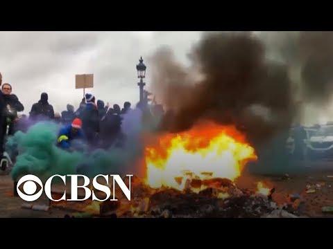 Hundreds of demonstrators arrested in violent Paris protests