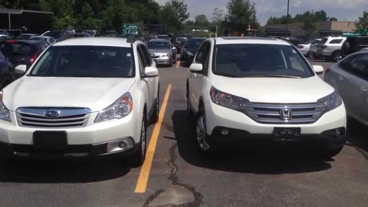 2017 Subaru Outback And Honda Cr V In Canton Ma You