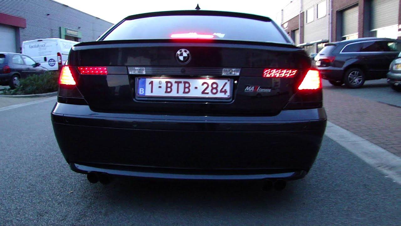 BMW E65 730d DUPLEX EXHAUST SOUND SPORTUITLAAT UITLAAT by www  MAXIPERFORMANCE nl