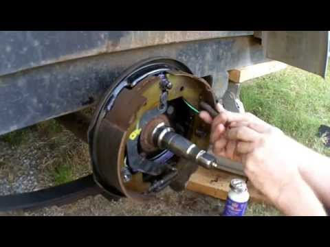 Trailer Brake Hanging Up- Plus How I Do a Brake Job