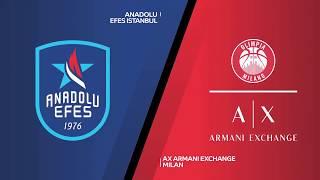#EuroLeague 19. Hafta: Anadolu Efes - AX Armani Exchange Milan