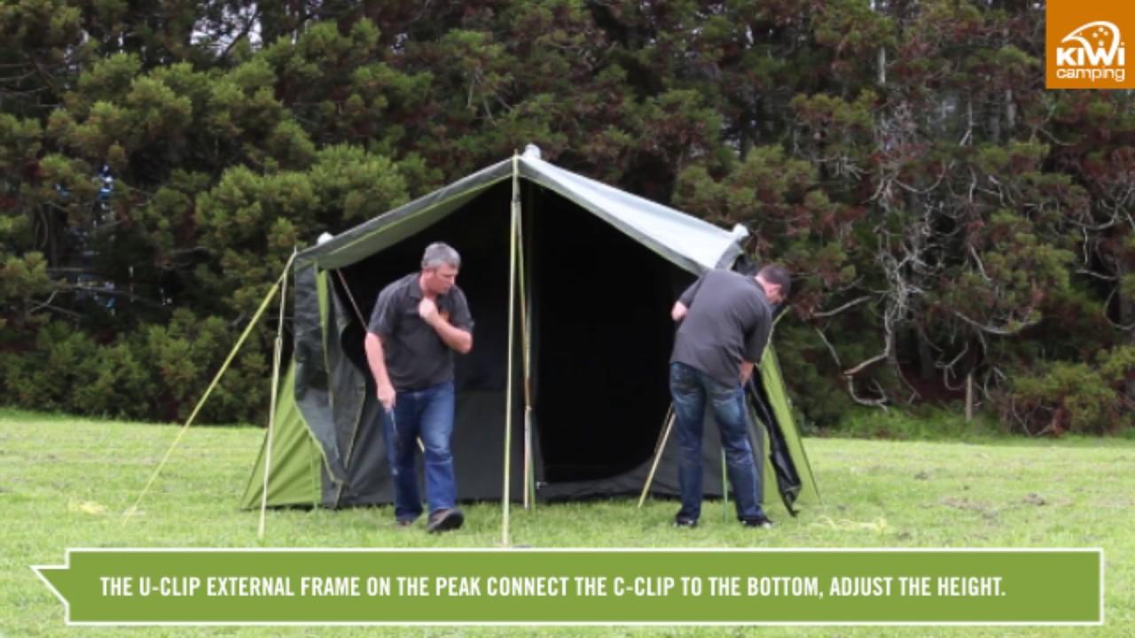 Kiwi C&ing Kakapo 8 u0026 5 Canvas Frame Tents - Pitching  sc 1 st  YouTube & Kiwi Camping Kakapo 8 u0026 5 Canvas Frame Tents - Pitching - YouTube