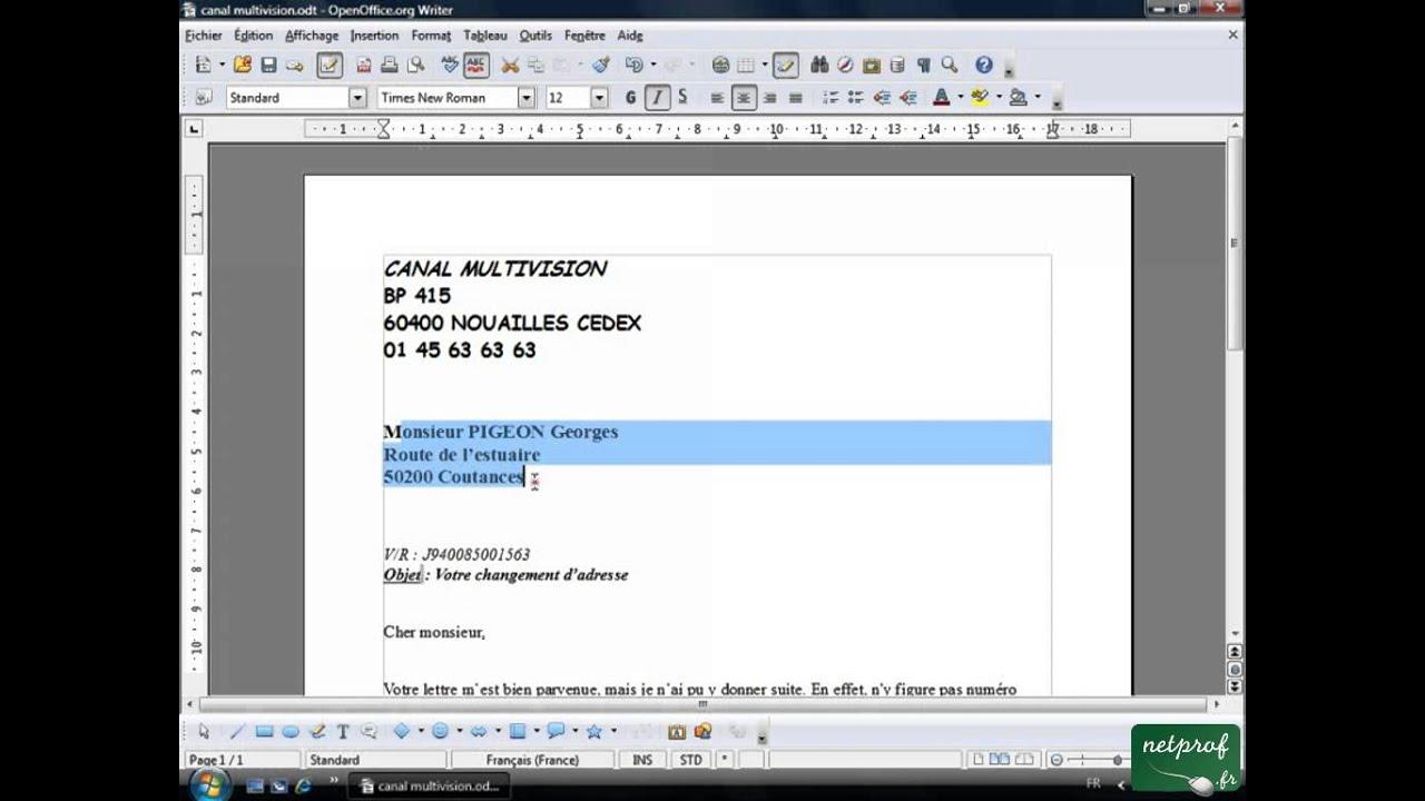 Open Office Ou Libre Office Texte 07 Alignement