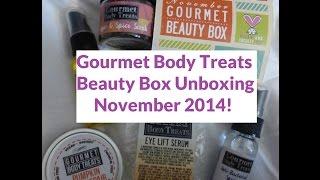 November Gourmet Body Treats Beauty Box - First Impression Unboxing! Thumbnail