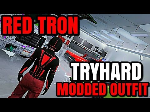 Gta 5 Online Christmas Masks.Gta 5 Online Red Tron Tryhard Modded Outfit Red Joggers