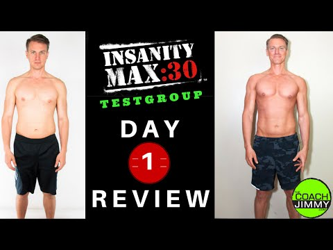Insanity Max 30 Review - Day 1 Results - Coach Jimmy - Video - Free