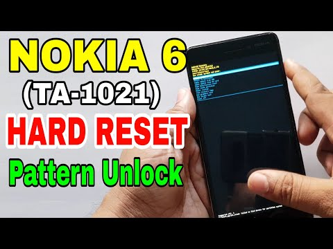 Nokia 6 (TA-1021) Hard Reset Or Pattern Unlock Easy Trick With Keys