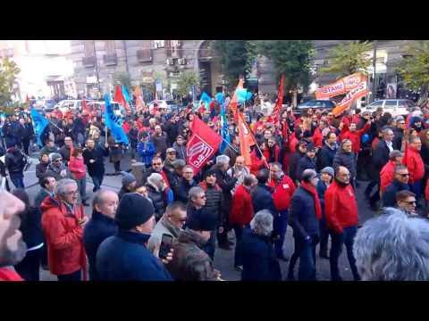 Napoli - Sciopero Telecom 13/12/2016