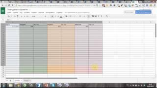 Таблицы в Google Drive. Автосумма, формулы.