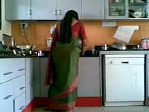 Girl Farts In Kitchen