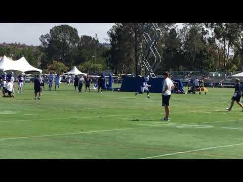 Los Angeles Rams Training Camp - Jared Goff to Sammy Watkins