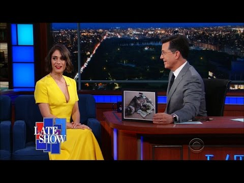 "Lizzy Caplan's Cat Is Named ""Colbert"""