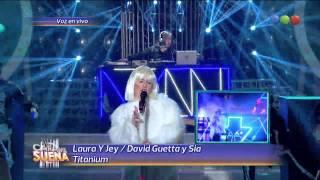 Laura Esquivel y Jey Mammon son David Guetta y Sia - Tu Cara Me Suena (Gala 13)