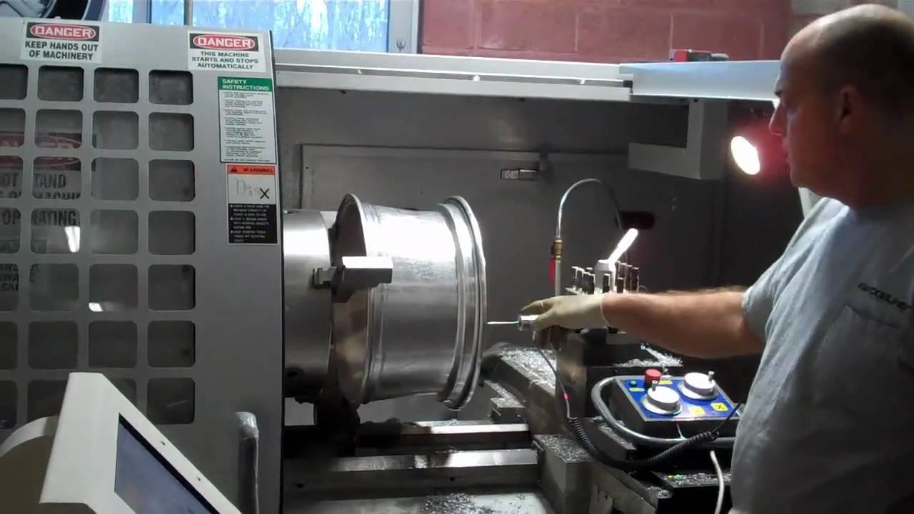Kwicksilver Wheel Repair Digitizing Rim for CNC Lathe - YouTube