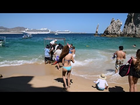 Lovers Beach Cabo San Lucas Playa del Amor Spring Break (HD)