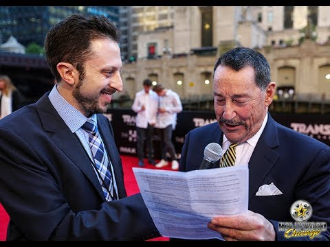 Optimus Prime voice artist Peter Cullen at Transformers: The Last Knight red carpet