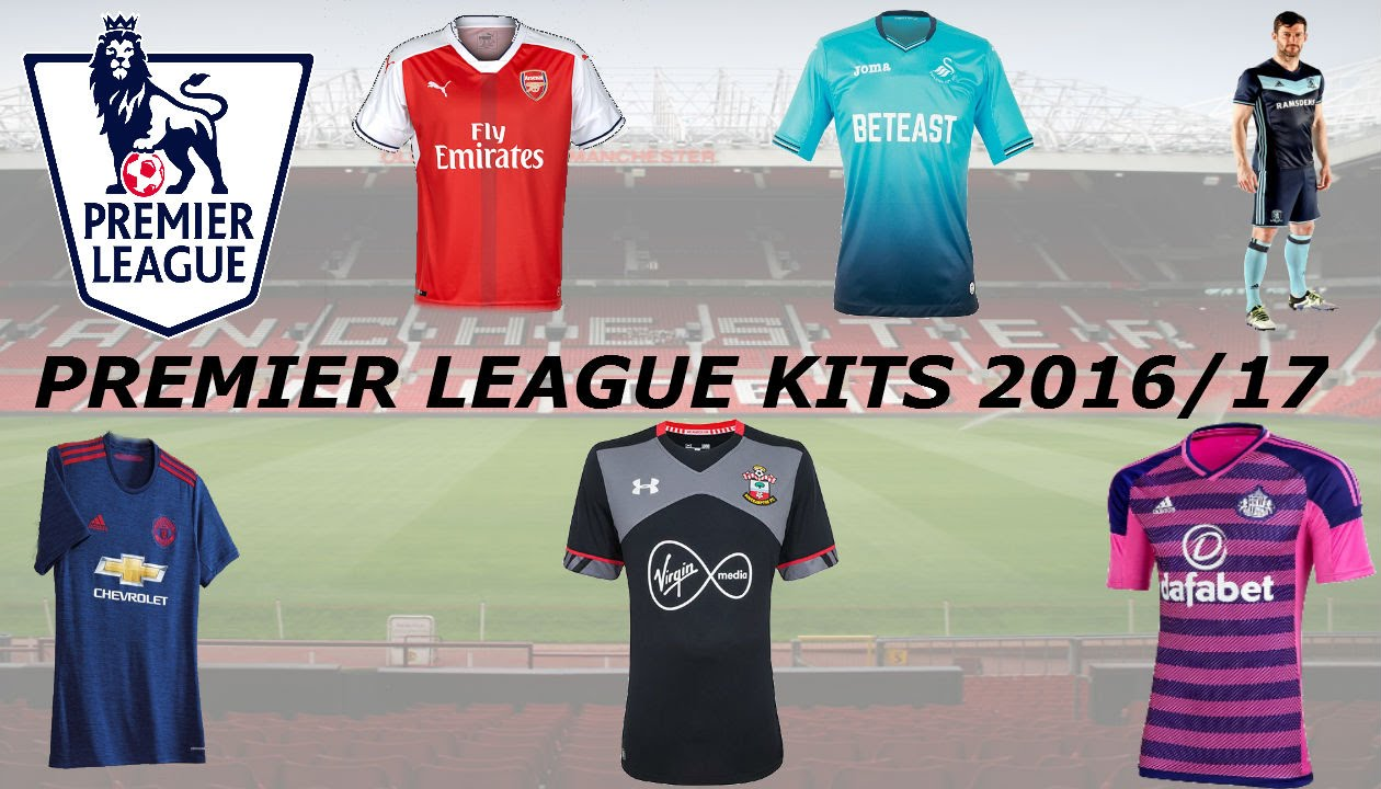 online store eef33 a9f43 Barclays Premier League 2016-17 Kits