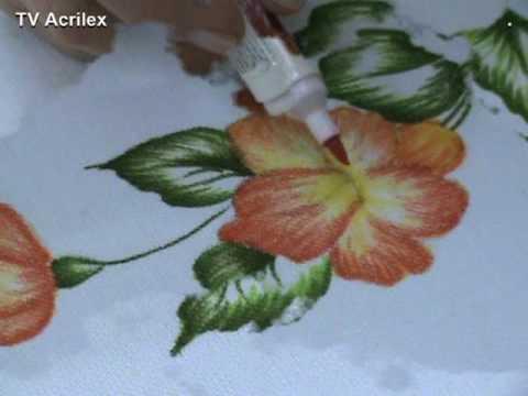 Marcadores para tela acrilpen youtube - Flores de telas hechas a mano ...