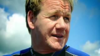 (中文字幕) 地獄廚房 Gordon Ramsay 親自下海抓扇貝 Gordon Ramsay- Hand Diving for Scallops