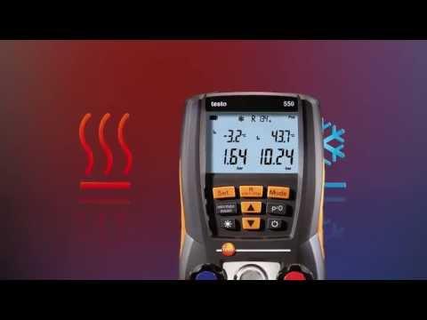Digitale Druck- und Temperaturmessungen an Kälteanlagen: testo 550 | Be sure. Testo