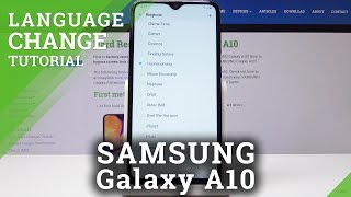 How to Change Language in SAMSUNG Galaxy A10 - Language List