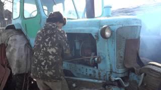 ЮМЗ-6Л. Запуск стартер-пускач-дизель