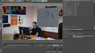 Уроки Cinema 4D: урок Cinema 4D  голова из стены