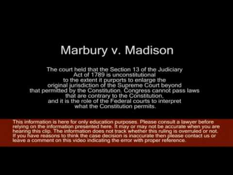 marbury v madison Marbury v madison is today indisputably one of the great cases of american  constitutional law because of its association with the principle of judicial review.