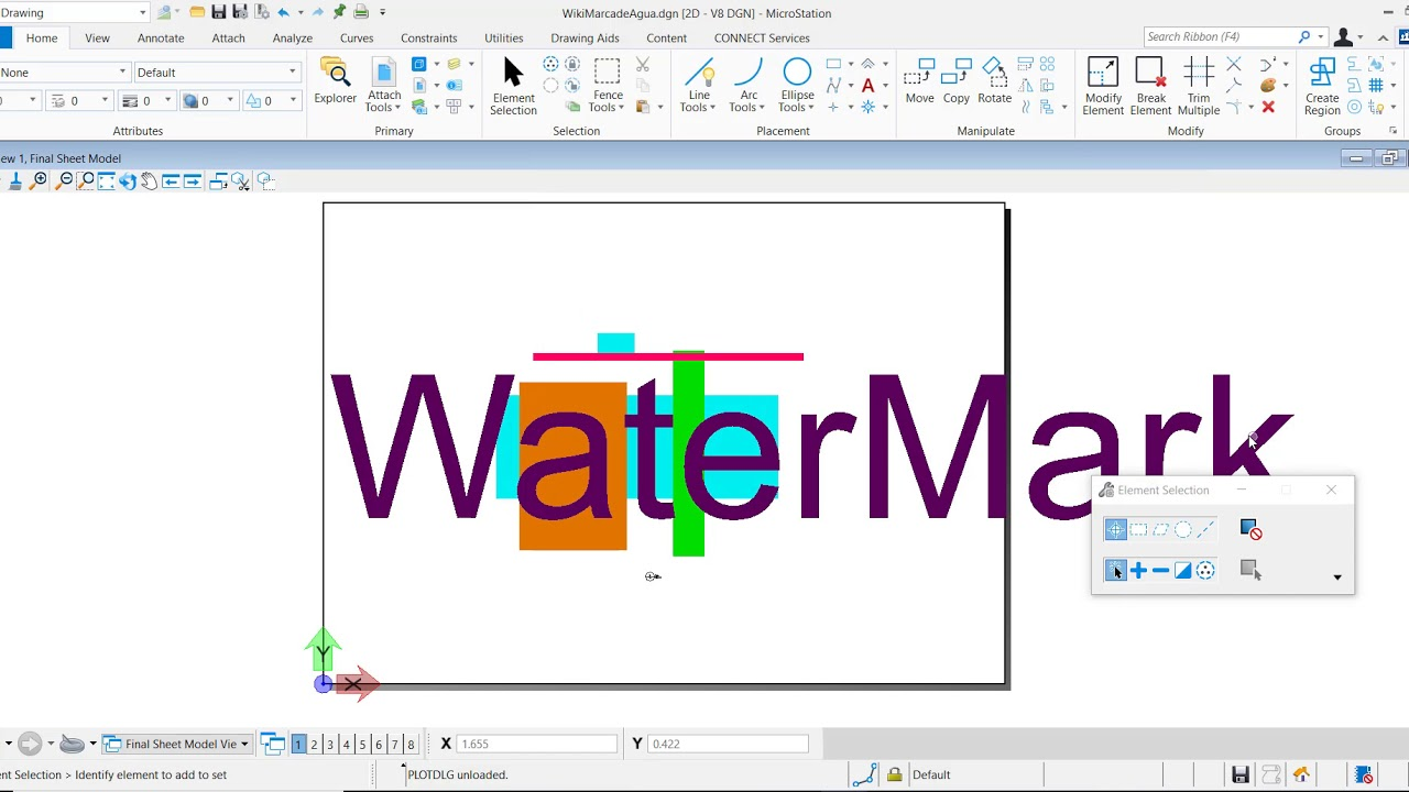 How To Add And Print A Watermark in MicroStation