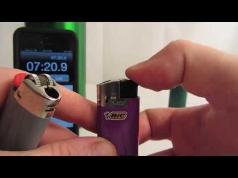 Bic Lighters Freezer/Cold Test