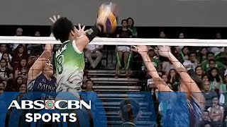 uaap 77 women s volleyball dlsu vs nu game highlights