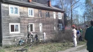 Пожар в Архангельске (Дамба), 18.05.2012
