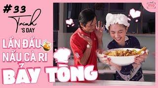 Ngọc Trinh - My Day #33 | Bảy Tòng lần đầu dạy Trinh Nấu Cà Ri Gà | #Stayhome and Cooking #Withme