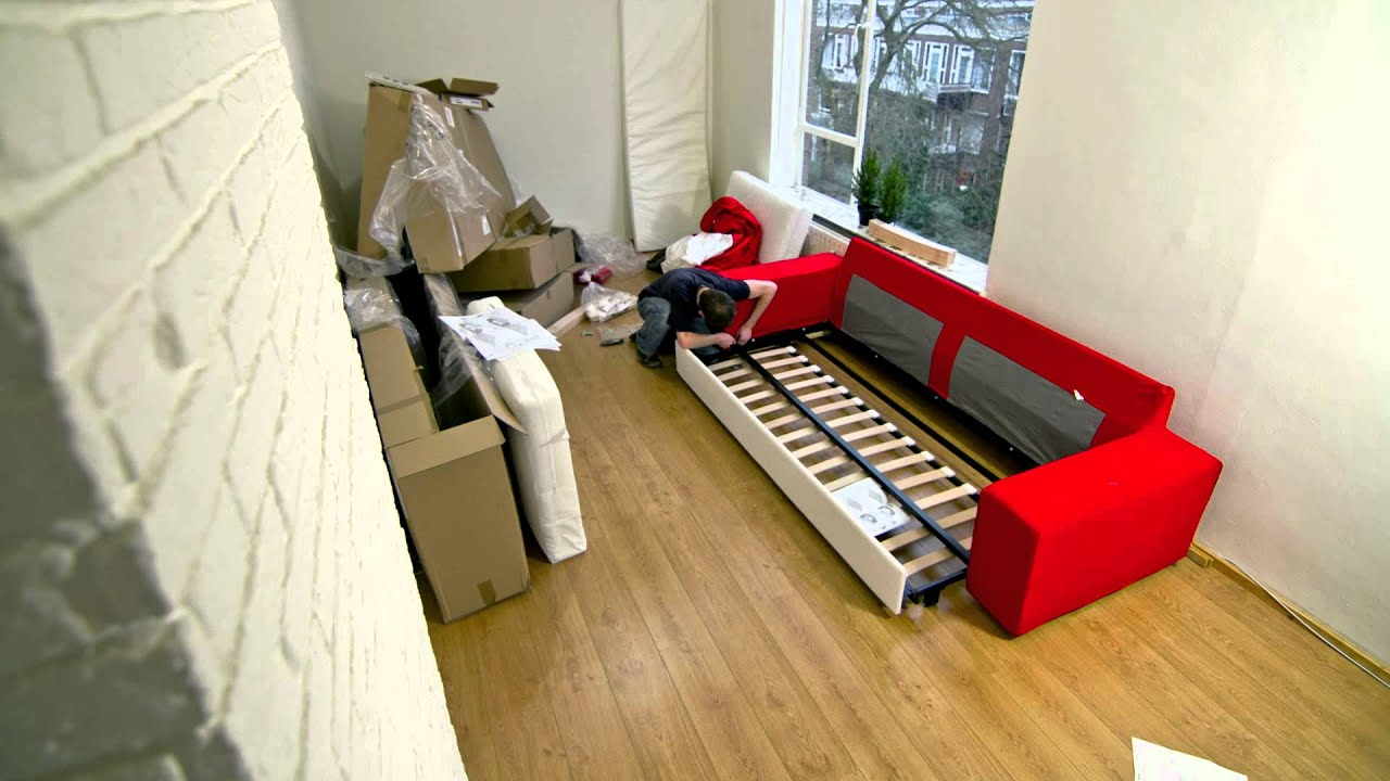 Building Ikea Kivik couch within one minute : kivik chaise assembly - Sectionals, Sofas & Couches