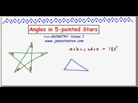 Angles in a 5-pointed Star (TANTON Mathematics)