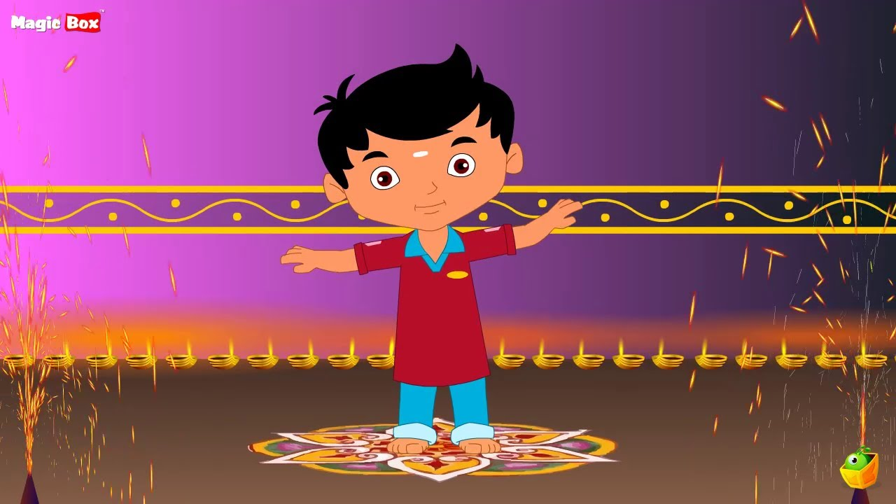 Deepavali Compiled Nursery Rhymes | Chellame Chellam | Tamil Rhymes ... for diwali animation for kids  104xkb