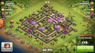 Clash of Clans- Townhall 10 Best Defense with Purple Walls. Defense Recap 2014
