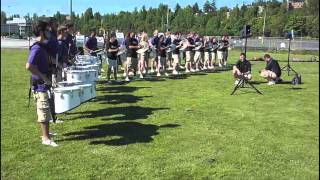 2012 Husky Day of Marching Percussion Clinic Demo Highlights