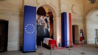 Церемония прощания с Жаком Шираком при участии Владимира Путина. Полное видео
